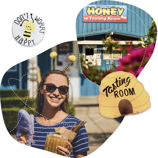 Happy customer at Bennett's Honey Farm