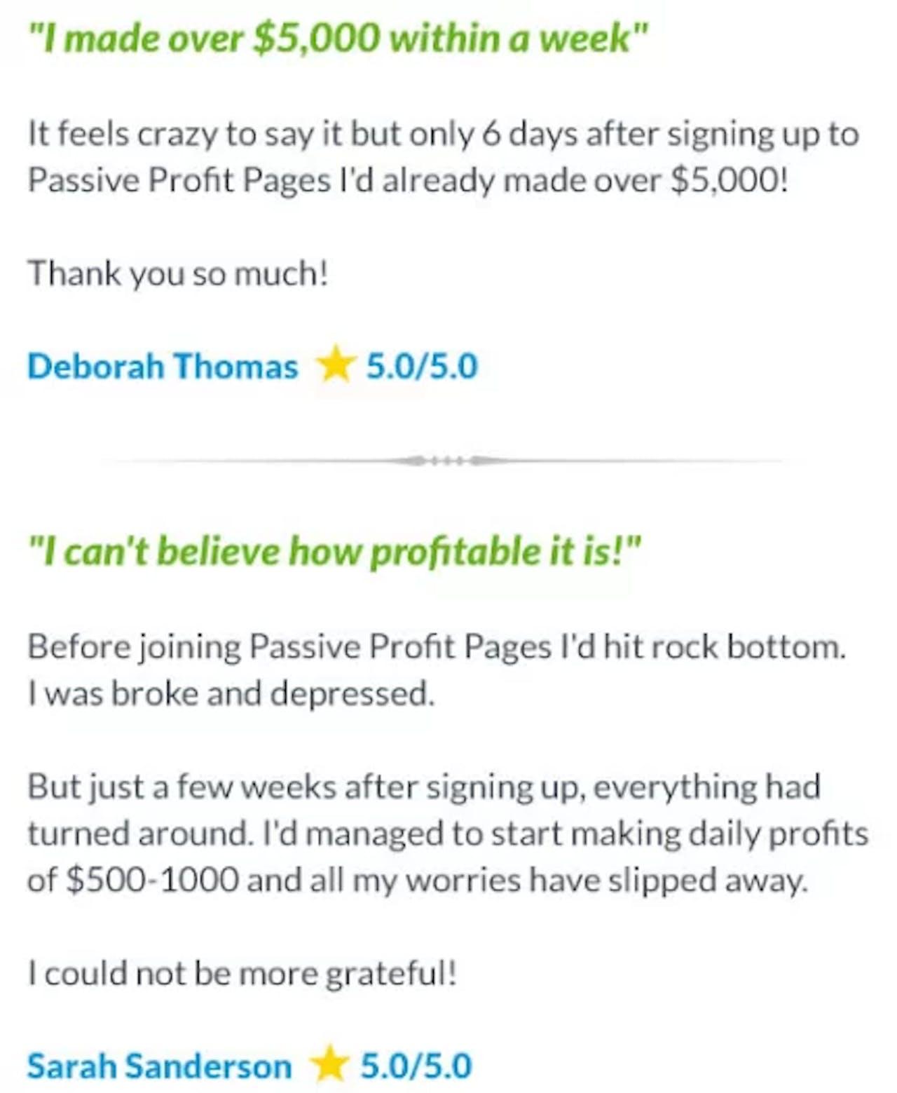 Passive Profits User Reviews