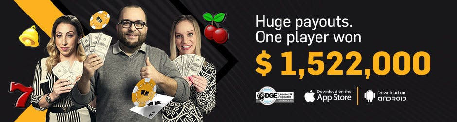 Jackpots Footer Banner - Huge Payouts