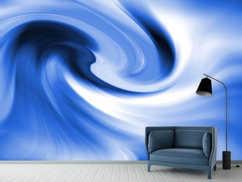 Fototapete Abstrakte blaue Welle