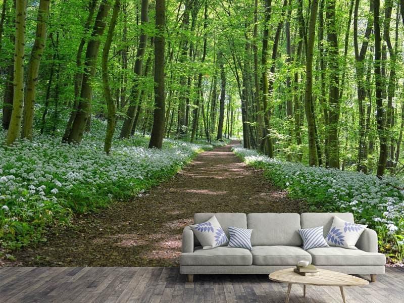 Fototapete Wir lieben den Sommer im Wald