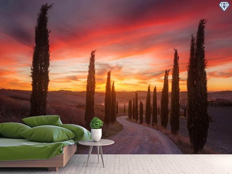 Fototapete Tuscany Sunset
