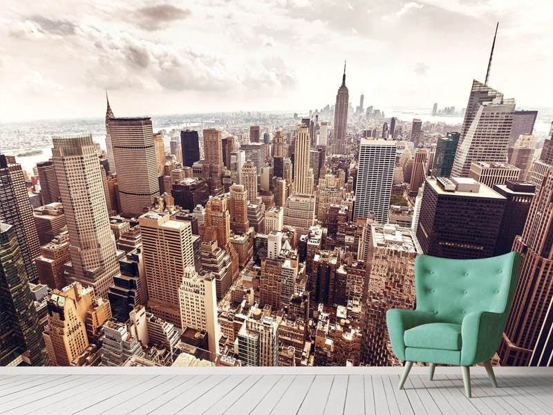 Fototapete Skyline Über den Dächern Manhattans