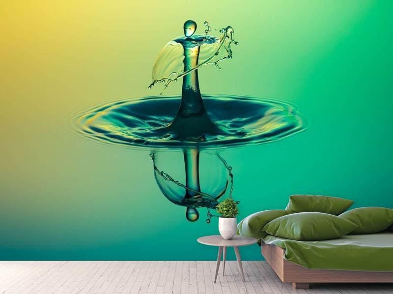 Fototapete Der faszinierende Wassertropfen