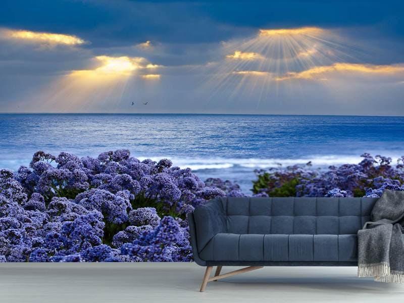 Fototapete Der Lavendel und das Meer