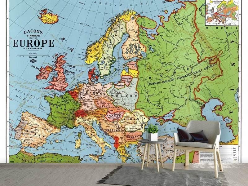 Fototapete Karte Europa