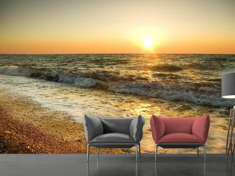 Fototapete Sonnenuntergang am Meer