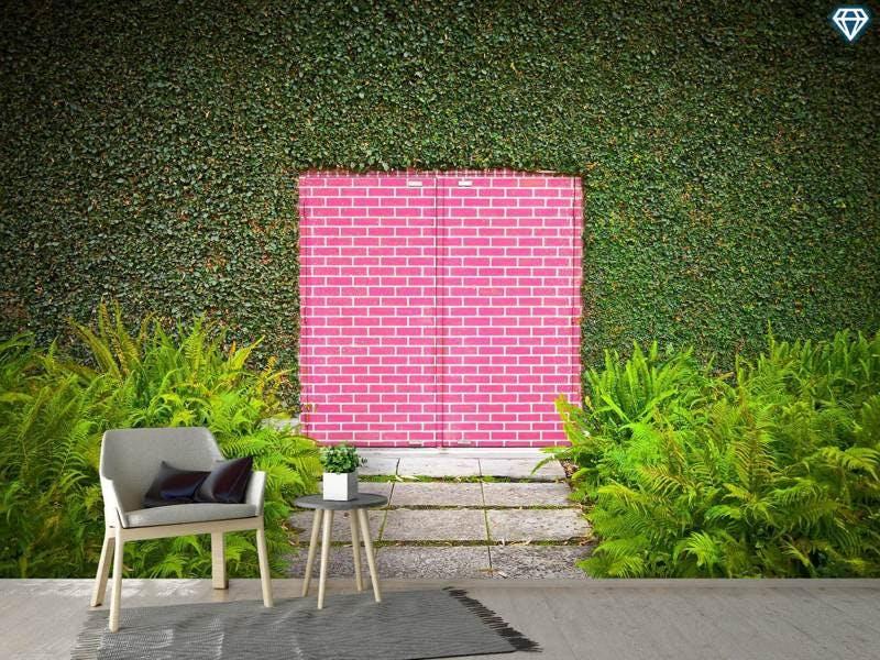 Fototapete Pink Brick Door
