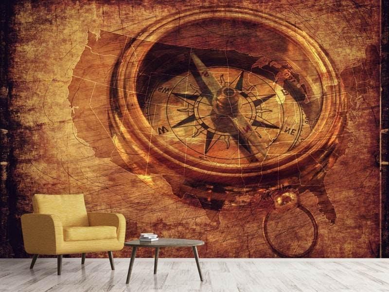 Fototapete Antiker Kompass