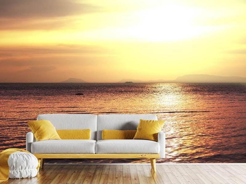 Fototapete Sonnenuntergang an der See