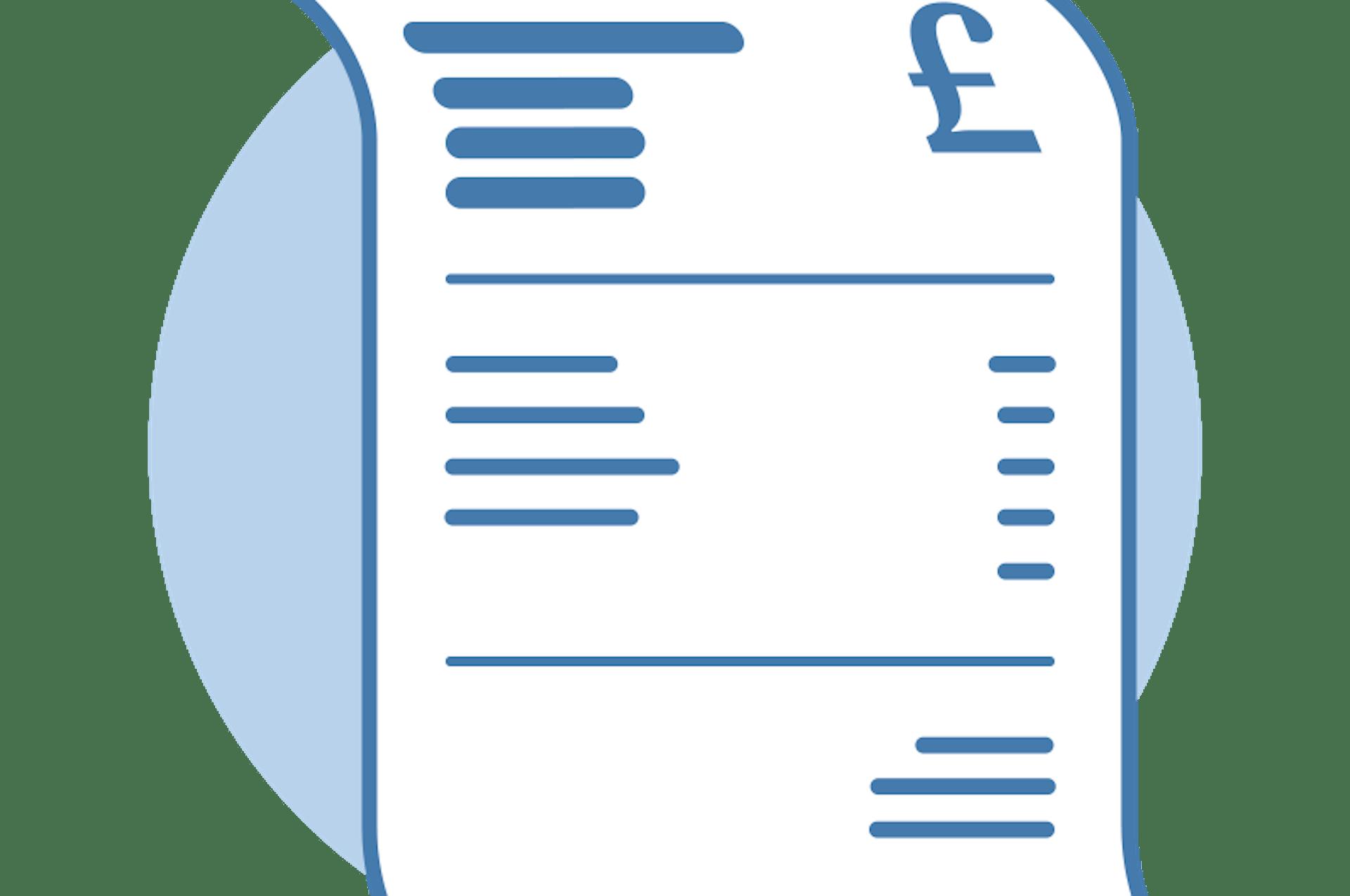 Illustration of an itemised invoice