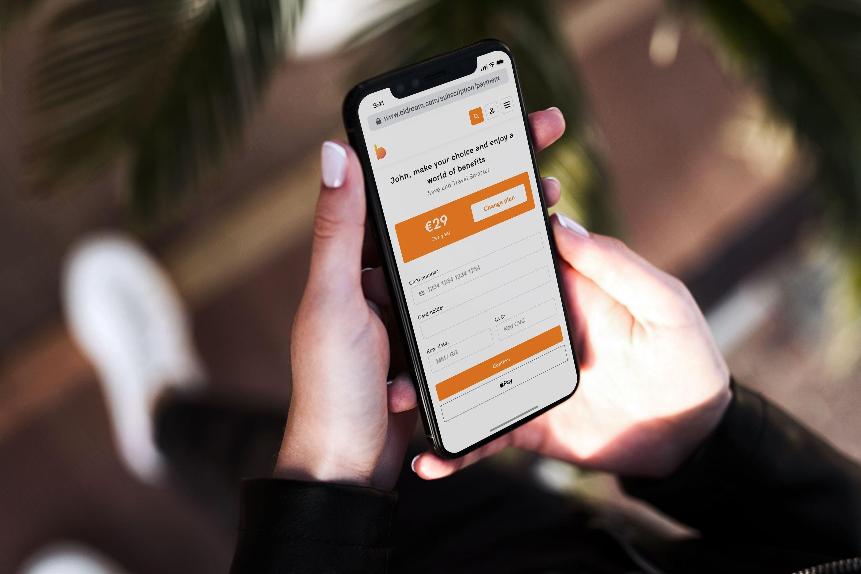 mobile, bidroom, mobile app