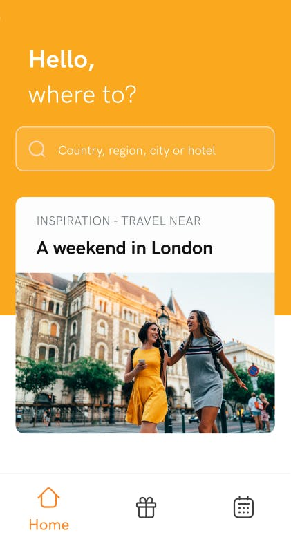 travel app image