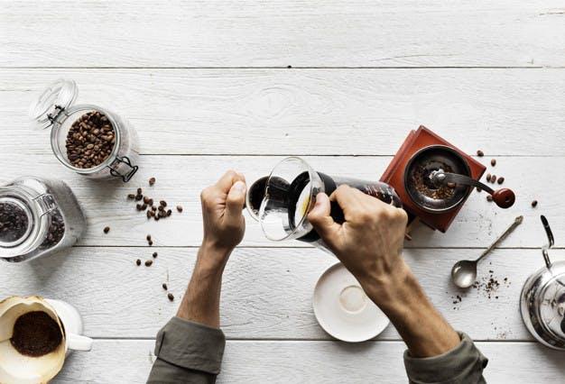 preparación café