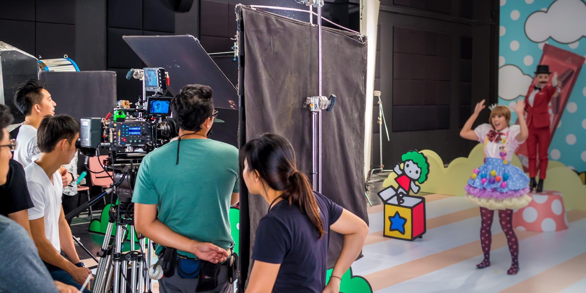 Behind the scenes for Hello Kitty Kit Kat production shoot