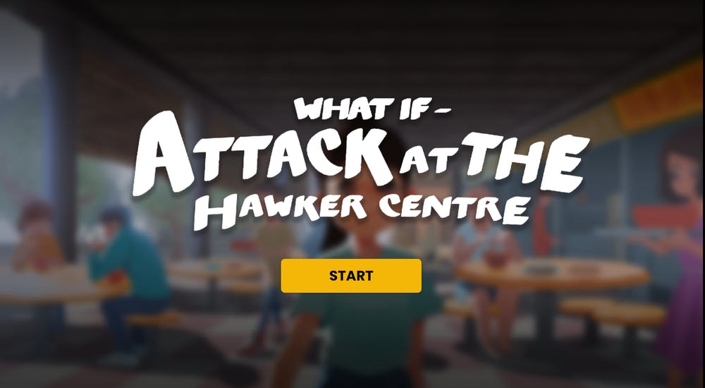 What if attack at the hawker centre MOE sgsecure