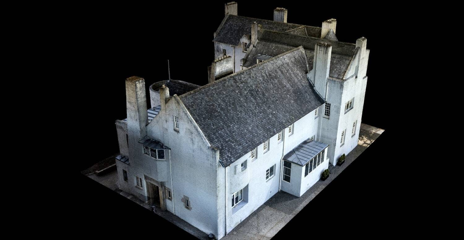 Virtual 3D model of the Hill House (Source: National Trust for Scotland)