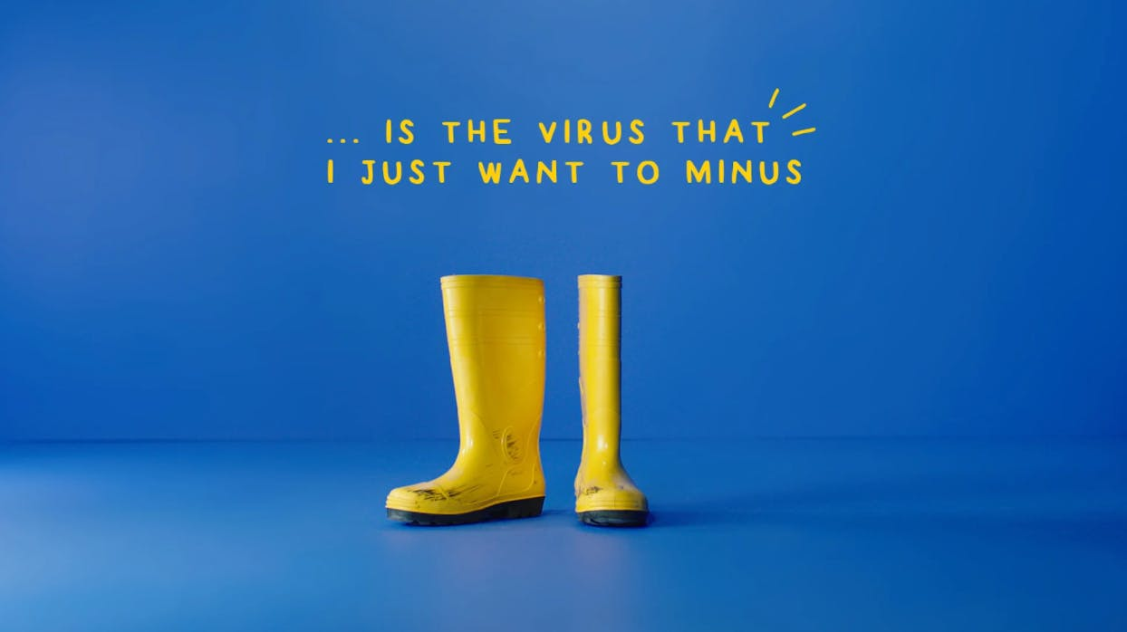 """Phua Chu Kang """"Sars is the virus that i just want to minus"""" poster"""