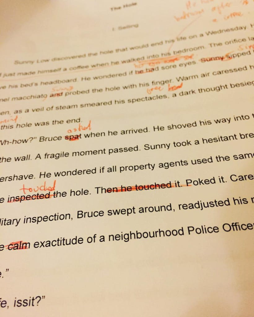 """The Editing Process of one short story called """"The Hole"""""""
