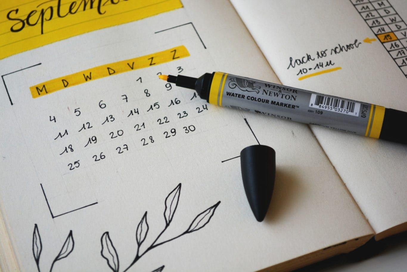 Bullet journal for September