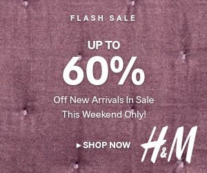 H&M web banner for a flash sale
