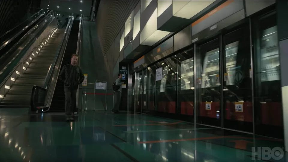 """Westworld"" scene shot at Singapore's Stadium MRT (Image Source: Reddit)"