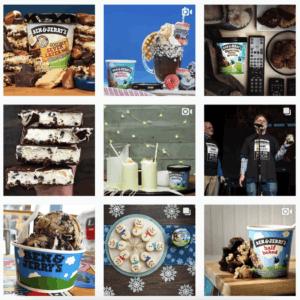 Ben&Jerry's instagram feed