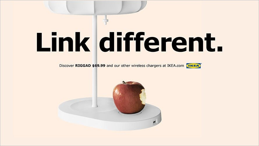 Ikea web banner for wireless chargers