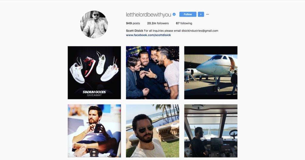 Scott Disick's Instagram feed