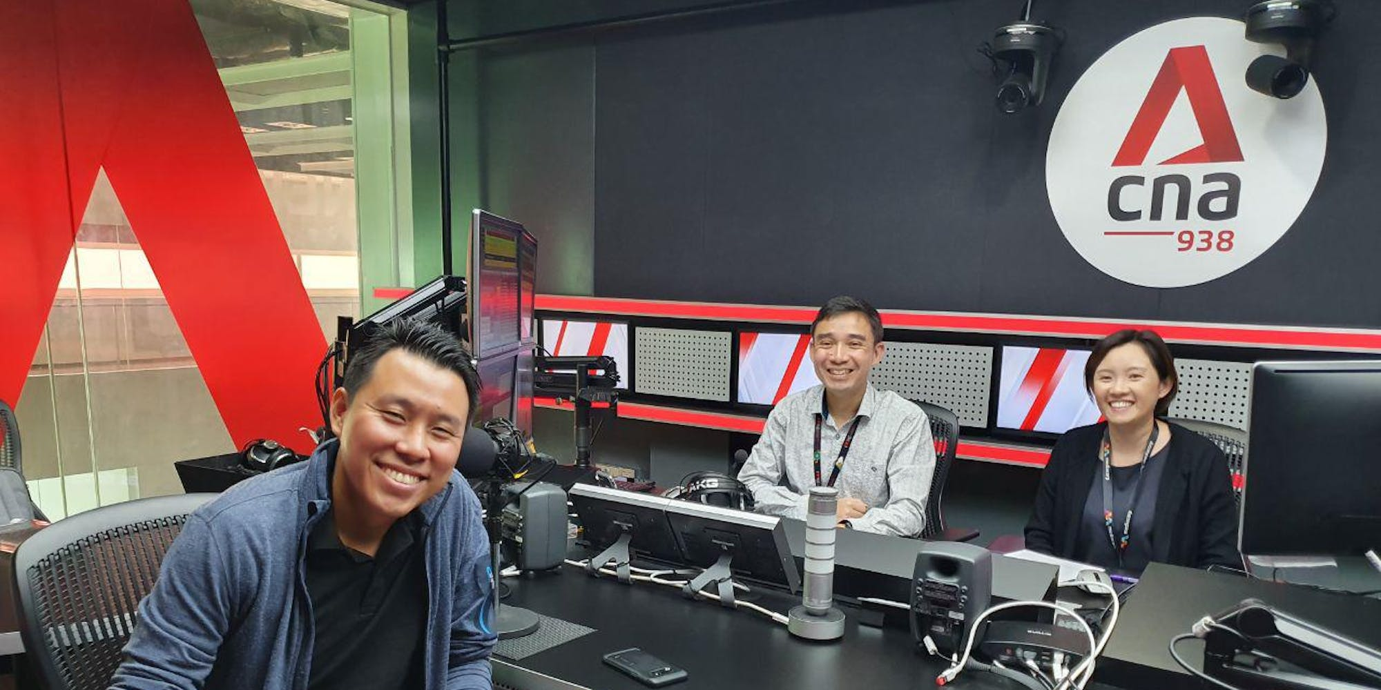 Our managing director, Willie Lee, at the CNA938 studio