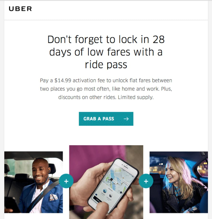 Uber Email Ad
