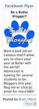 Example of a facebook flyer