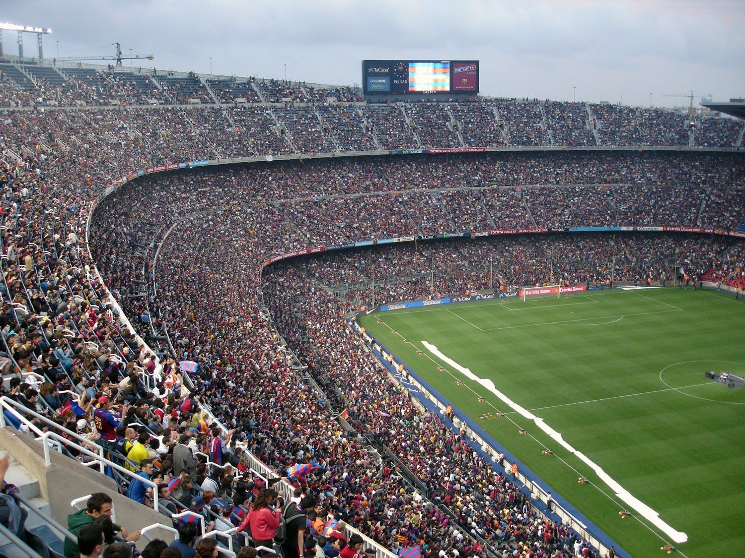 Soccer stadium filled with fans