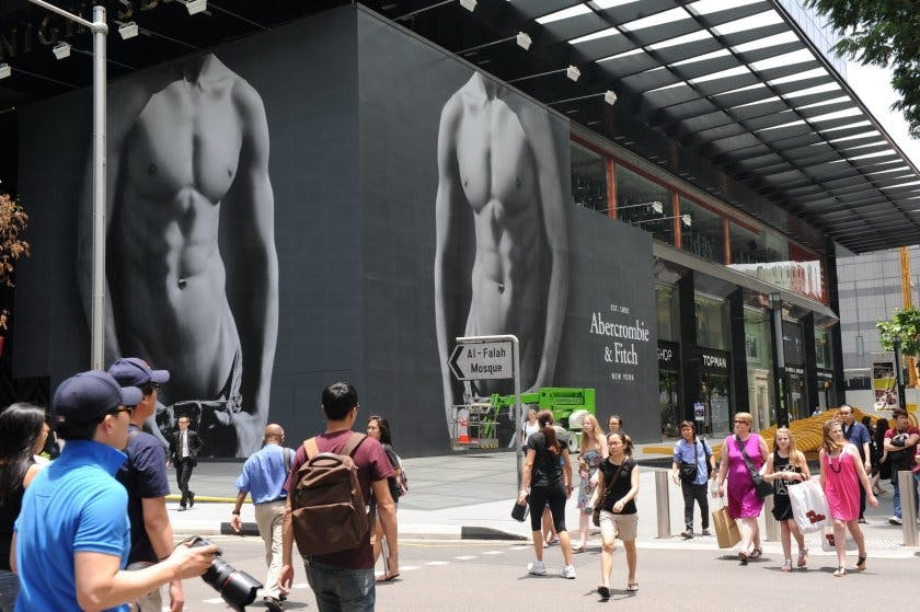 Abercrombie & Fitch Abs campaign