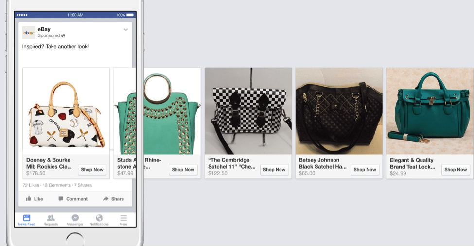 Example of Facebook Carousel Ad Example (Source: AdEspresso)