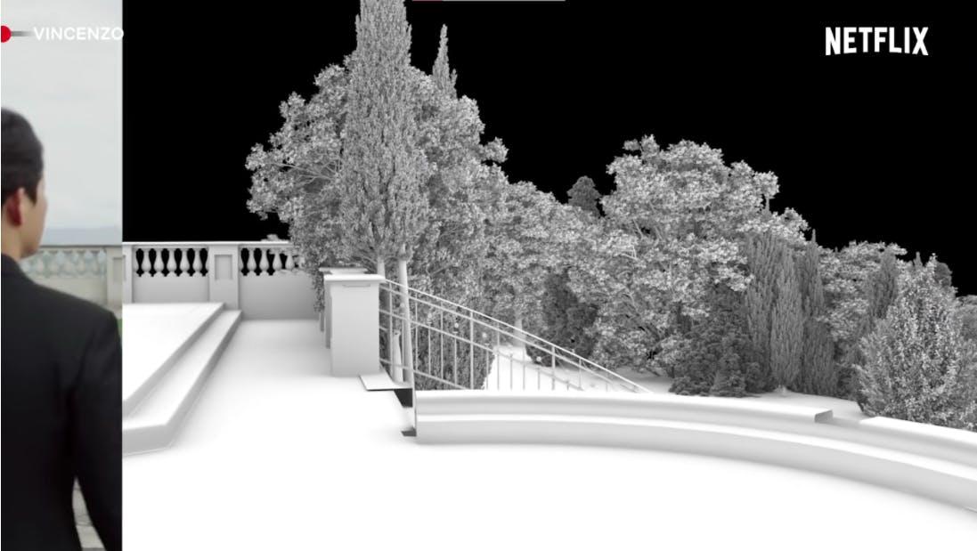 Vincenzo landscape before rendering computer graphics