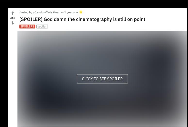 Reddit post by u/randomMetalGearfan