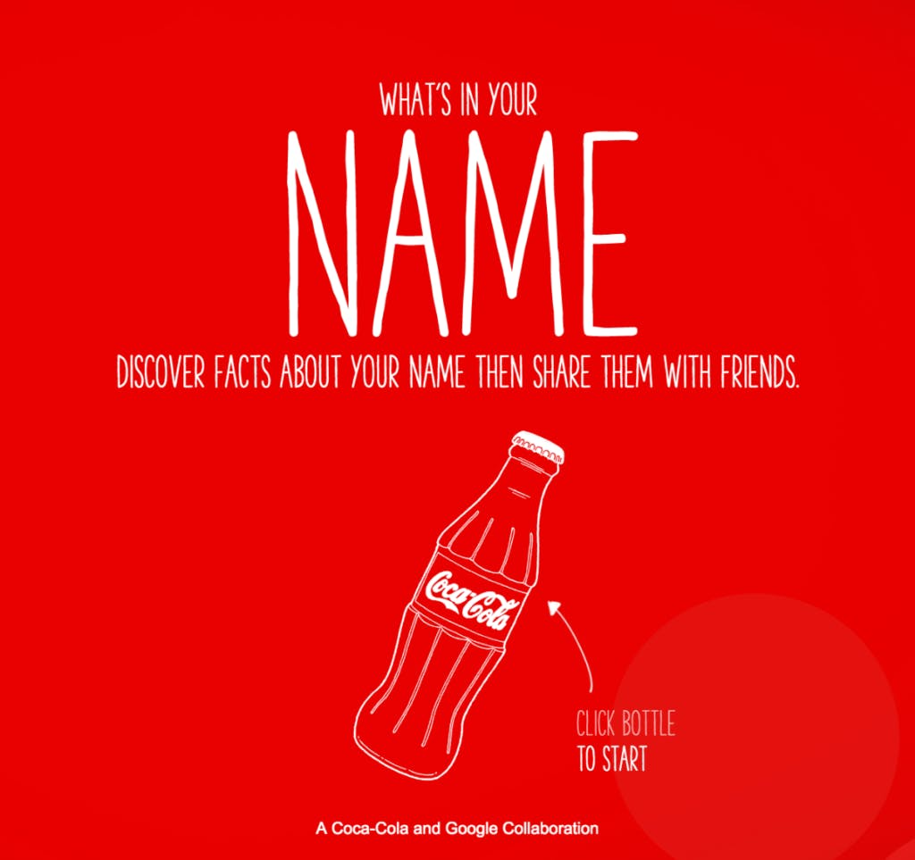 Share a coke campaign poster