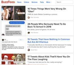 Screenshot of Buzzfeed website