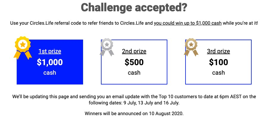Circles.Life challenge accepted promotion