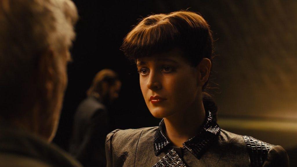 A de-aged Sean Yong recreated as Rachael in Blade Runner 2049