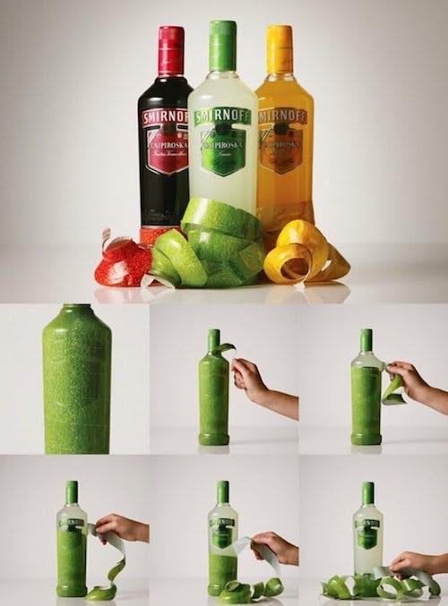 Smirnoff highlighting their packaging