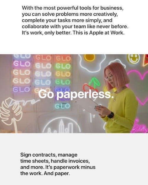 Apple's minimalist advertisement