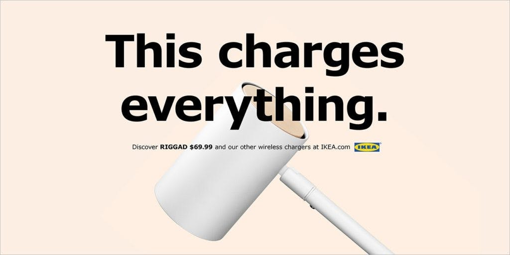 IKEA web banner for wireless charger