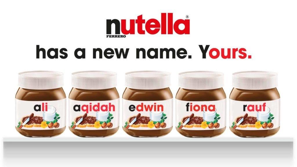 Nutella Malaysia ad campaign poster