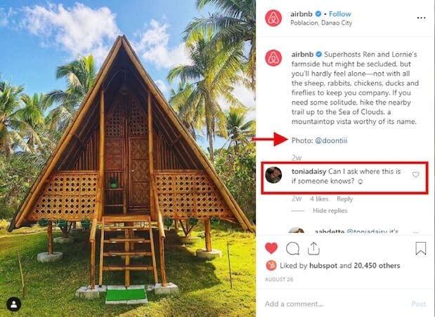 airbnb instagram post