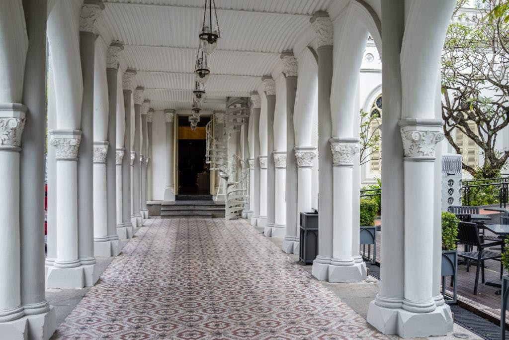 A photo of Chijmes hallway