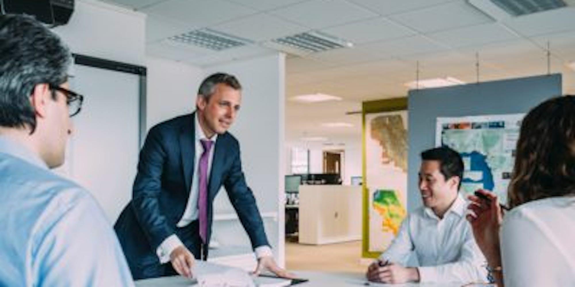 An office meeting