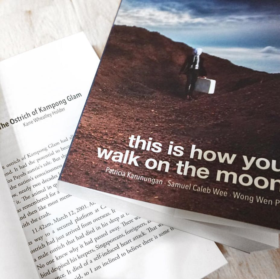 Short story 'The Ostrich of Kampong Glam' published in mind-bending anthology 'this is how you walk on the moon'.