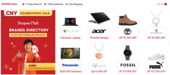 Product Category Recommendations on Shopee's Website